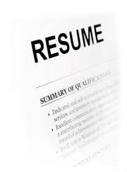 resume typing and formatting